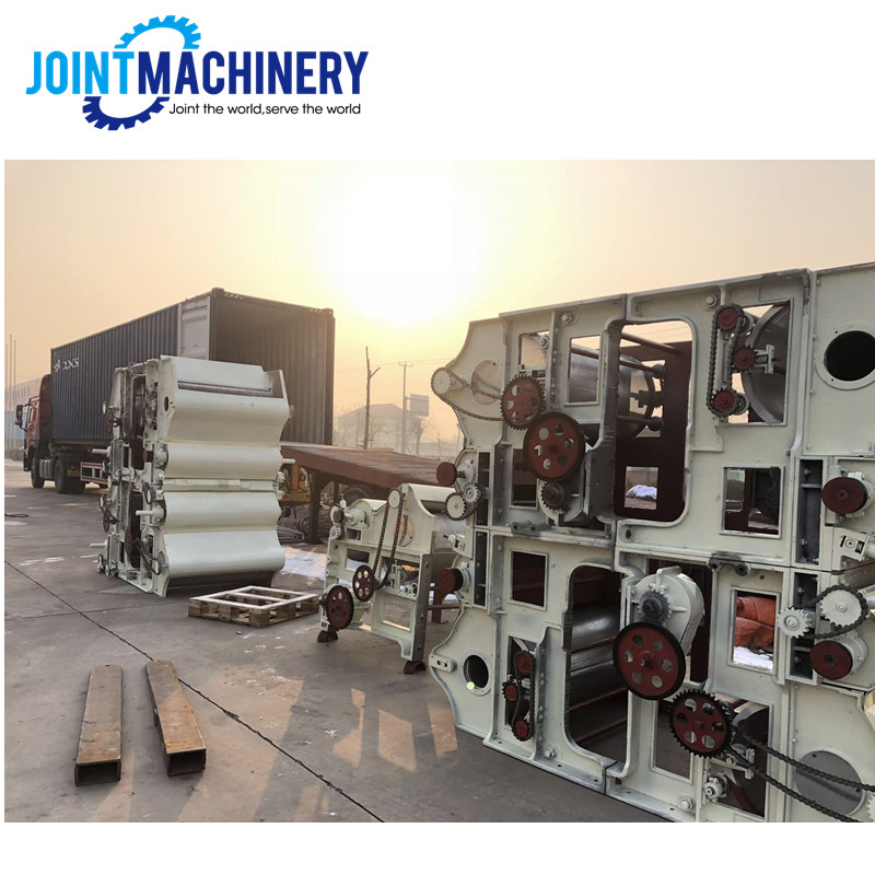Nueva máquina de reciclaje de residuos de tela de algodón de maquinaria textil desarrollada