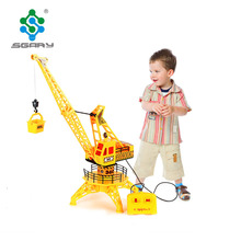 New Arrival Strange Wire Control Construction Tower Crane Toys Simulation Model Educational Toys For Children Pretend Gift