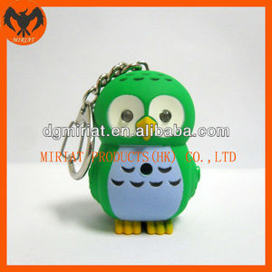 lovely owl plastic figures with keychain