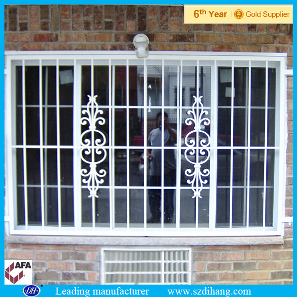 Steel window grill design iron window grill design buy for Metal window designs