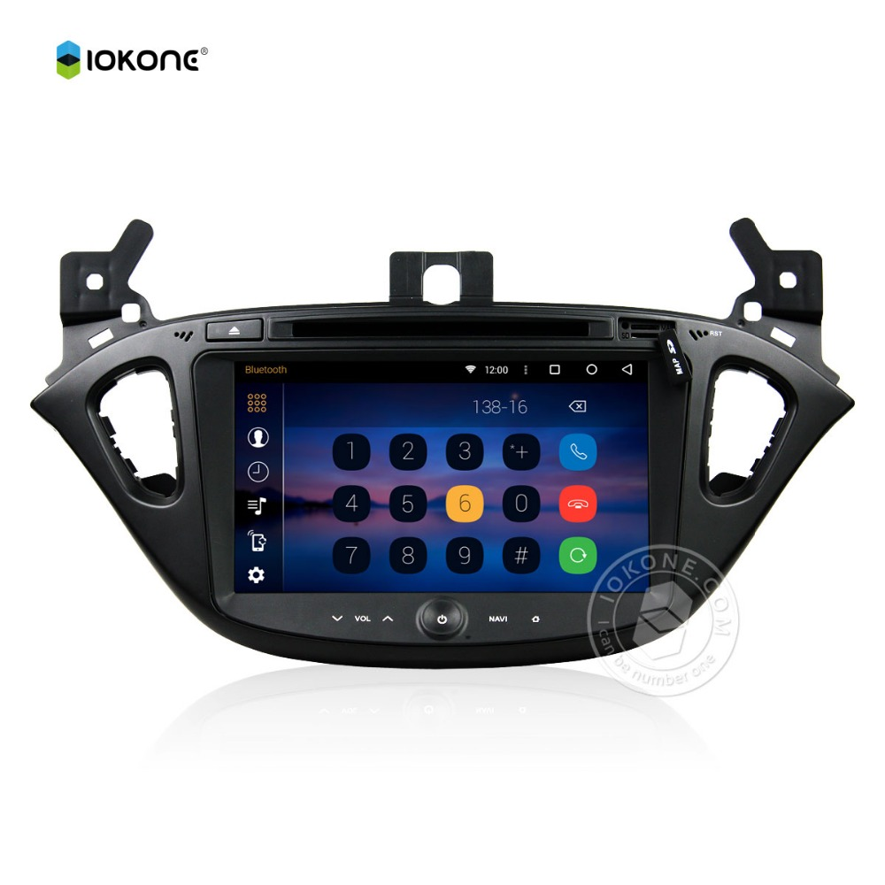 "iokone UI 8"" Navigation GPS for Opel CORSA 2015 Android 5.1Car DVD Quad Core HD"