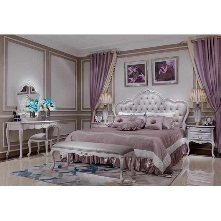 2017 New Concept French Style Light Purple Color Bedroom Set Buy Ligh Pruple French Classic King Size Bedroom Sets Elegant Light Purple Carved