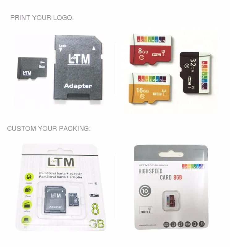 Asli Kecepatan Tinggi Kartu Memori 4GB 8 Gb 16GB Sd Mikro Kartu dengan Sd Card Adapter