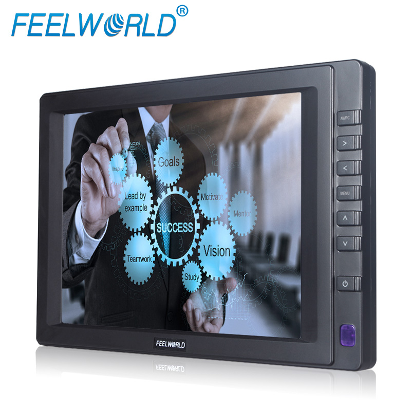 "8"" tft led lcd hdmi SKS input window linux os support speak built in 4 wire resisitive touch screen monitor"