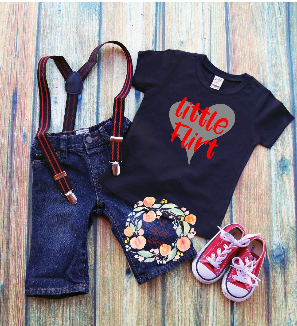 37d7a221d7f9 Get Quotations · little flirt/Valentine flirt/T-Shirt/Boy Valentines Day  Shirt/Funny
