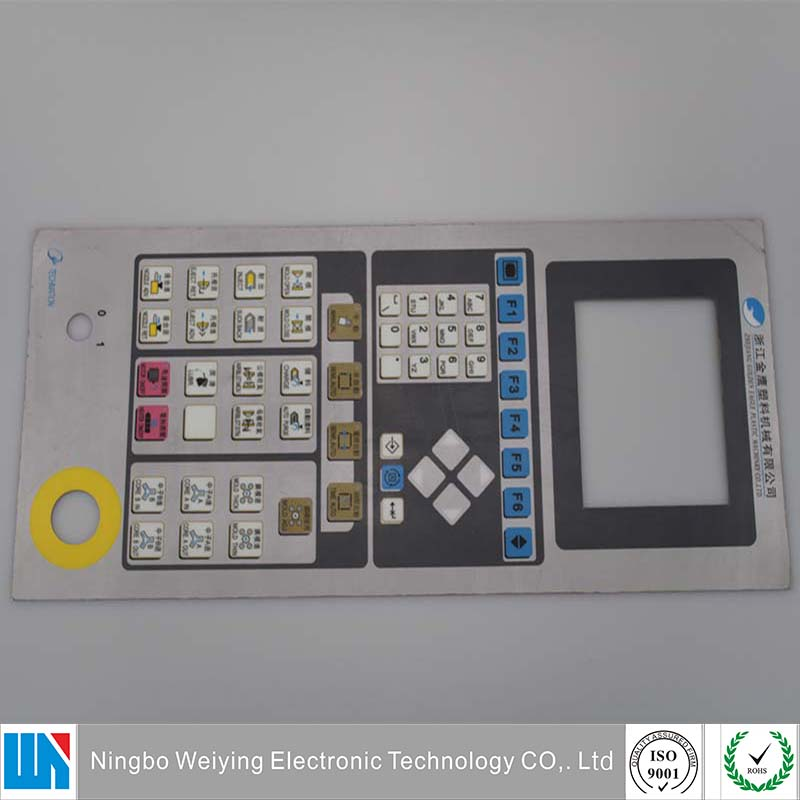 PC PET faceplate mebrane switch panel for electronic application