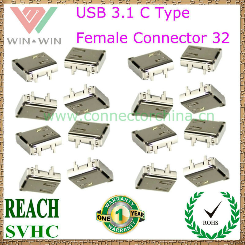 2015 Factory Whole sales C Type Female USB 3.1 connector 32
