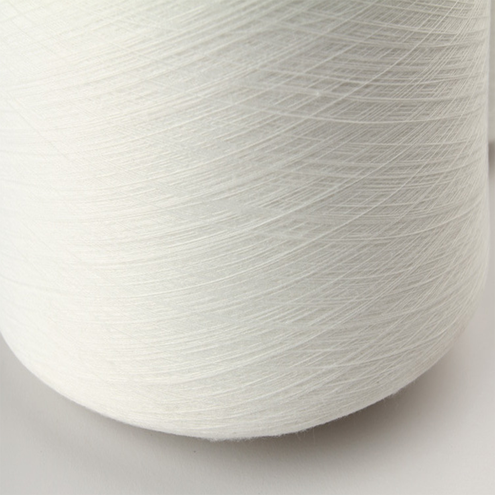 factory price bright white knitting 100 percent virgin fiber polyester spun yarn 30/1