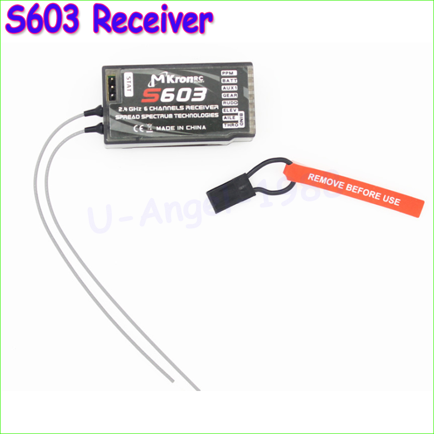 1pcs 2.4GHz S603 Digital Spread Modulation 6CH S603 Receiver For DX6i JR DX7 JR