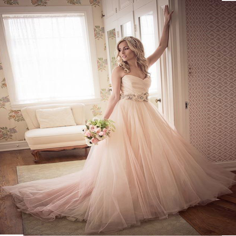 Color Wedding Gown: Ball Gown Wedding Dresses 2017 Floor Length Sweetheart