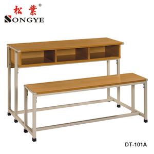 3-Seaters Student Desk and Chair,School Furniture,Classroom Desk and Chair For Middle School&High School&College Students