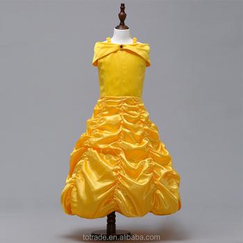 280f4d648e5bd3 Partie Jaune Robes De Fille De Fleur Tulle Tutu Robe Belle Princesse  Deguisement Halloween Belle Et La Bête Cosplay Robe - Buy Belle  Robe,Costume ...