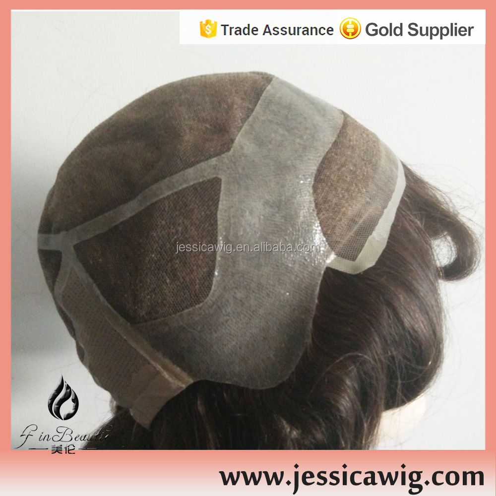 Breath well full lace cap men wig