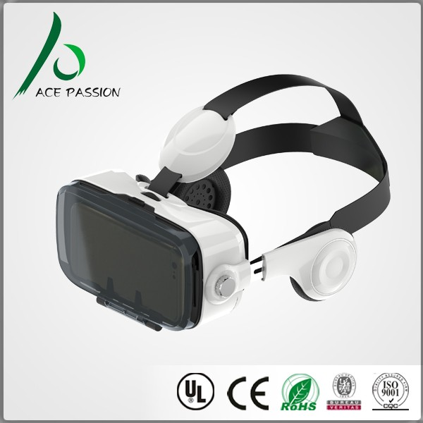 Wholesale virtual reality 3d vr box 2.0 with remote controller