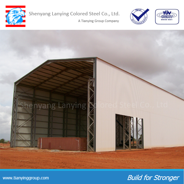 high quality super market used steel structure warehouse for sale