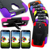 Hot New Case For Samsung Galaxy S4 Hybrid Tough Case Hard Soft Dual Layer Kickstand Cover