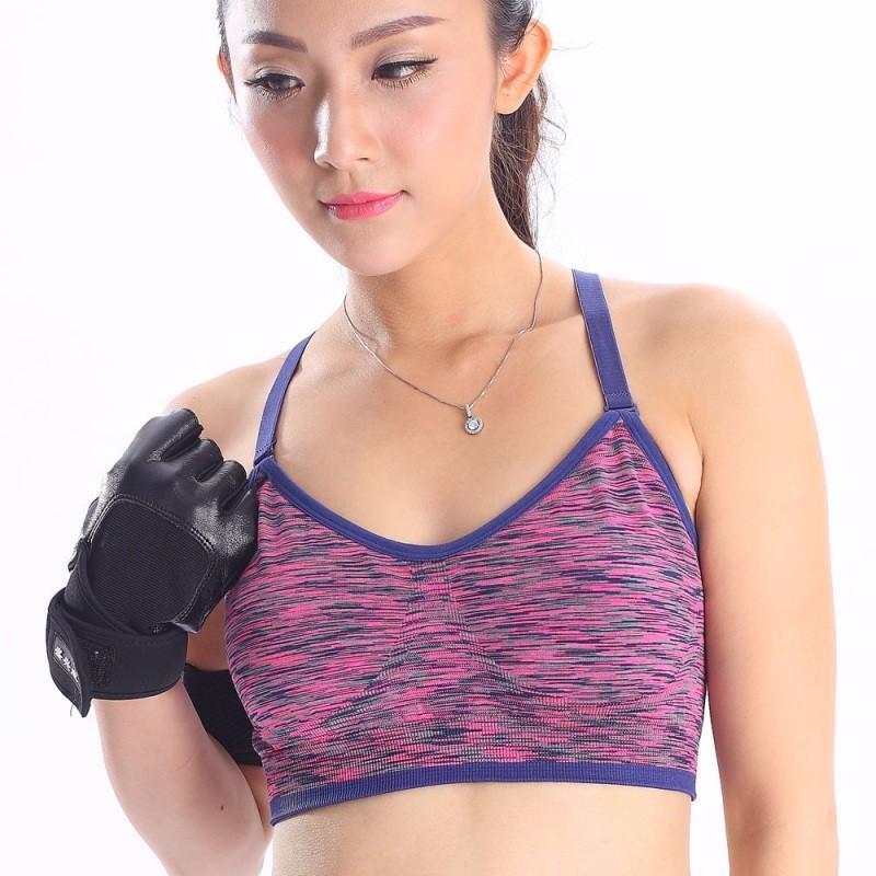 f743731adbe05 ᑐWomen Sports Bra Yoga ▽ Fitness Fitness Crop Top Padded Stretch ...