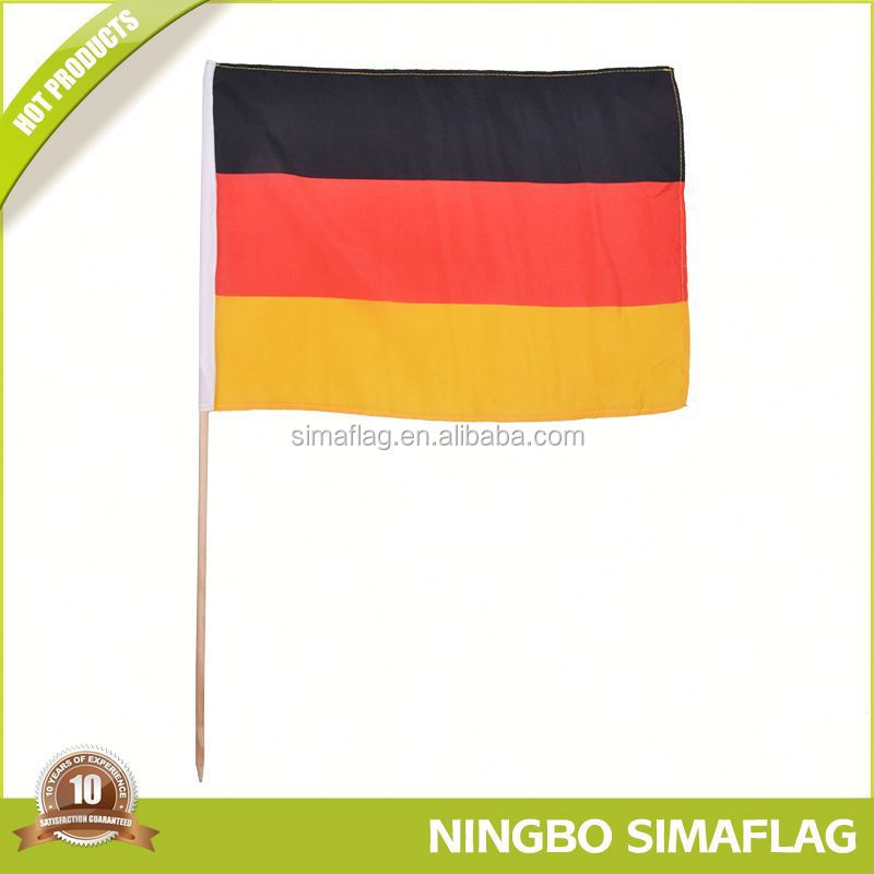 Fully stocked factory directly hand waving plastic flag banner