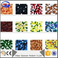 Crystal Glass Iridescent Yellow Mosaic Glass Tile