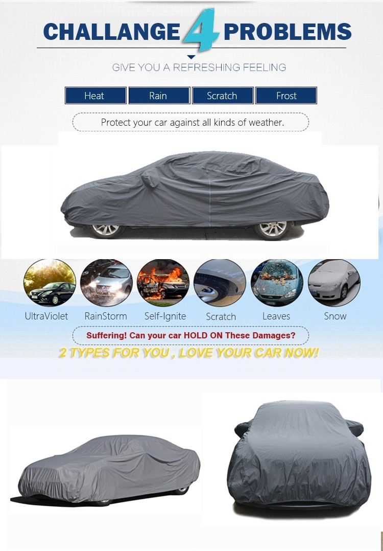 Hot selling full body Waterproof PVC 210g  inflatable hail proof auto car cover