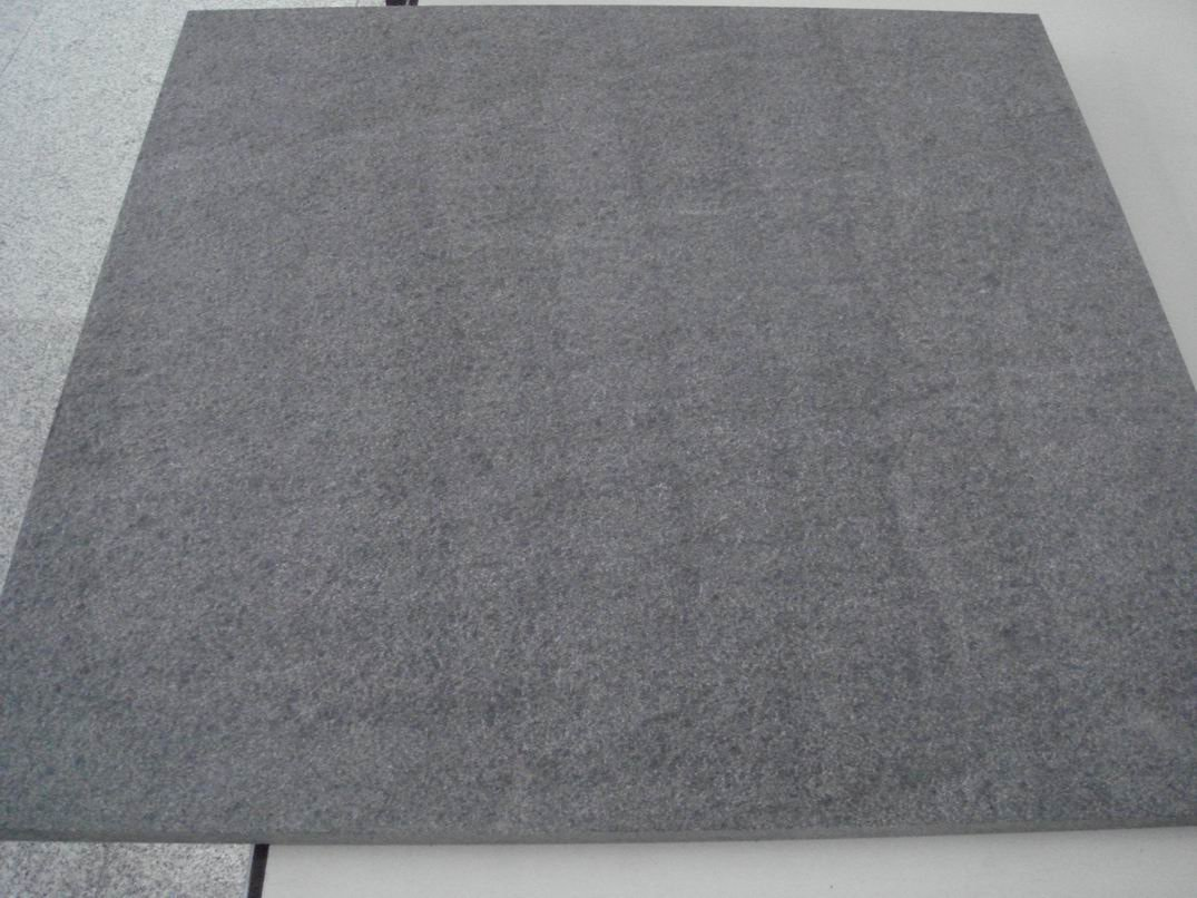 New stock G654 dark grey granite slab(Flamed)