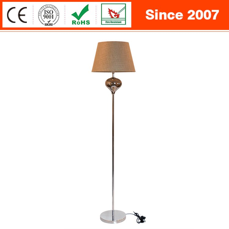 Italy style chrome metal glass decorative home OEM standing floor lamp