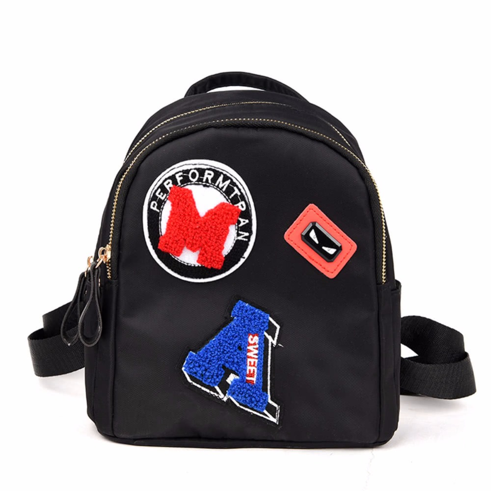 Women Mini Backpack for Teenagers Girls School Bag Cute Applique Solid Small Backpack Casual Rucksack Bag