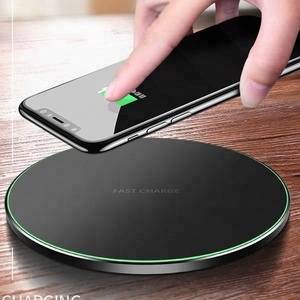 hot new custom logo wireless mobile phones charger 9V Fast wireless charger paypal accept