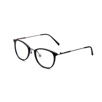 FONHCOO Fashion Customized Black Round Frame Women Men Anti Blue Light Computer Glasses