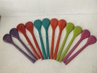 eco-friendly set of colorful bamboo spoon