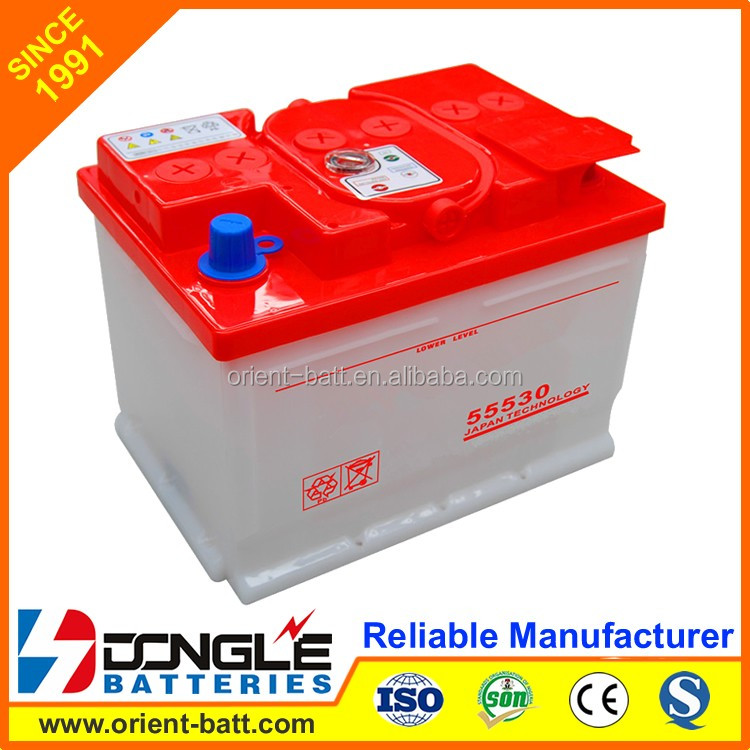 Super Power Heavy Dry Charged Dry cell Car Battery 12V 55Ah