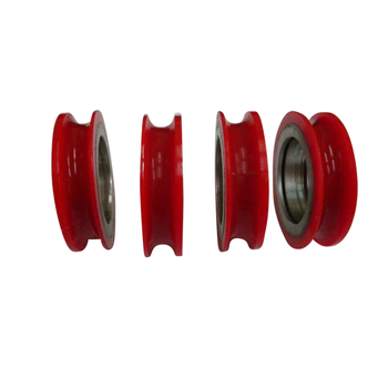 OEM customized Plastic U grooved pulley wheel for rope factory