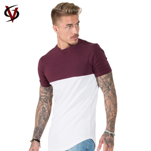 Top Quality Men Custom Plain Two Color T Shirt Regular Fit Raglan Short Sleeve Baseball T Shirt Wholesale