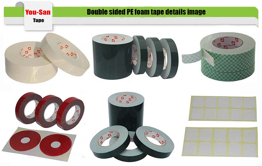 Free samples 1mm thick black pe foam double-sided adhesive tape