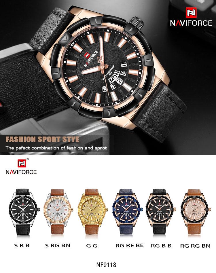 Description, New Arrival Men Sports Watches NAVIFORCE 9118 ...