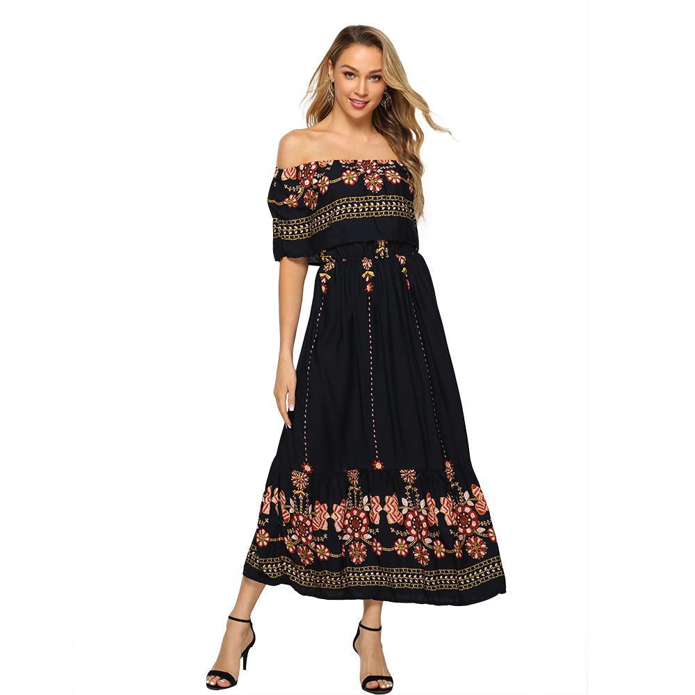 Frauen Vestidos XXL Plus Größe Kleid Unregelmäßigen Schwalbenschwanz Halter Neck Schwarz Abendkleid