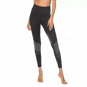 Custom dropshipper black dry fit leggings for women sport