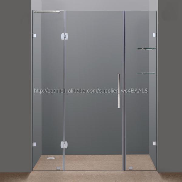 nuevo desigh sin marco bisagra cabina de ducha puerta de la ducha pantalla custom con