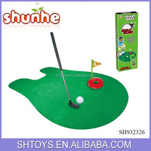 Novelty gift toilet golf indoor mini golf game with putter