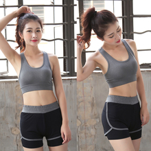 Women Fitness Yoga Racerback Sports Bra For Running Gym Padded Shake proof Underwear Push Up Seamless Stretch Workout Top Bras