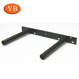 Custom steel powder coat/electrophoresis floating folding shelf brackets and support in Dongguan