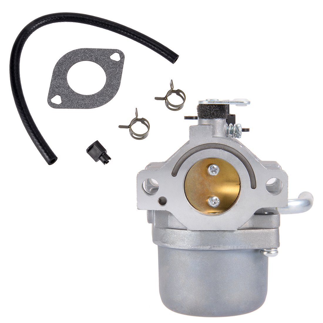uxcell 590399 Carburetor Carb for Briggs & Stratton 796077 Lawn Mower Engine with Gasket Fuel Line