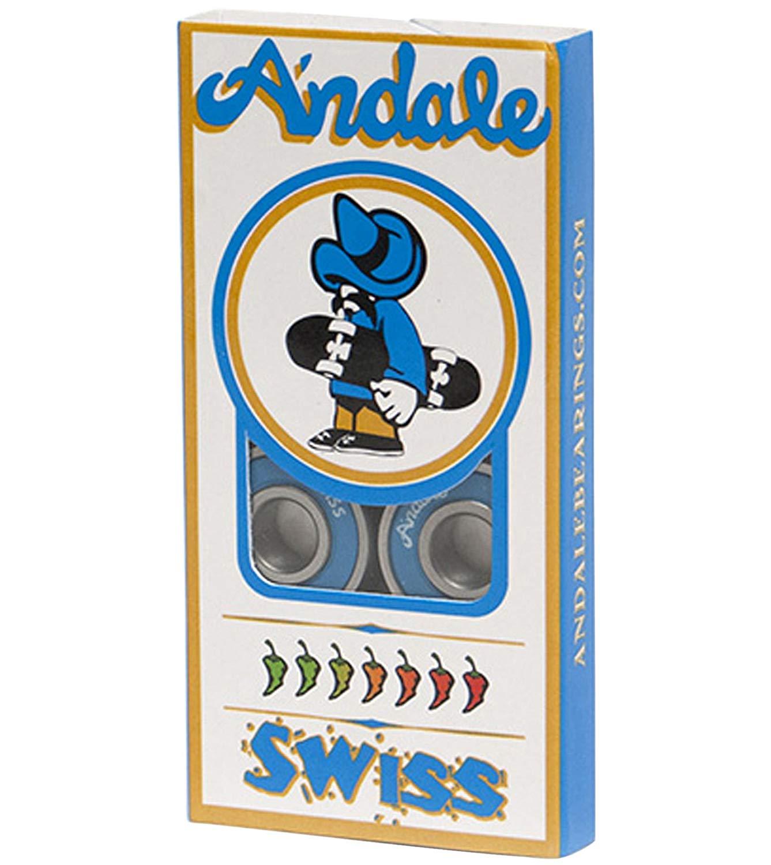 Andale Swiss Bearings Blue Skateboarding Bearings