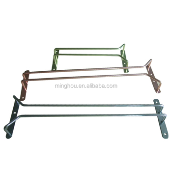 china wholesale spray paint metal hanging wine glass rack holder - Hanging Wine Glass Rack