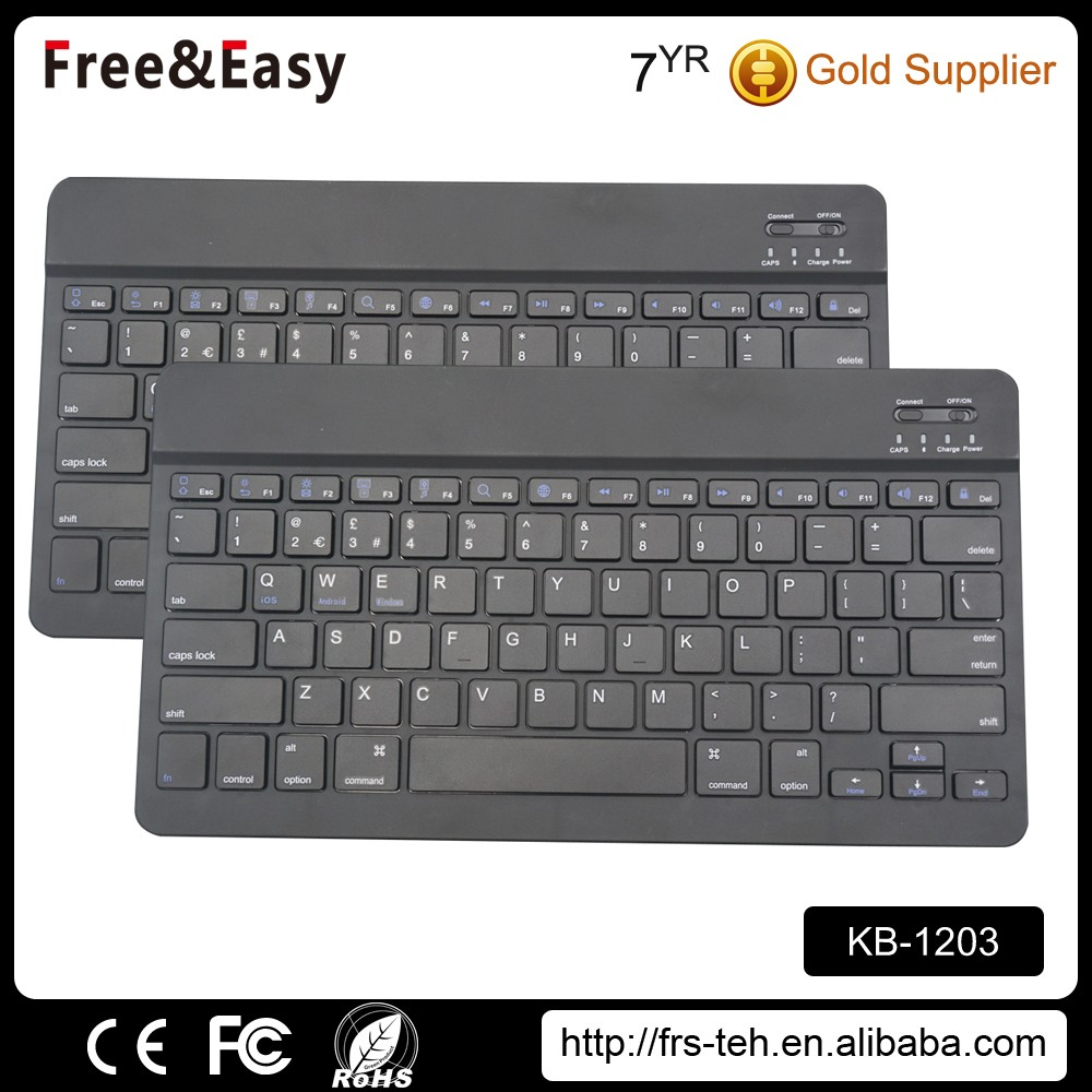 Super thin 2.4g usb touchpad wireless keyboard with bluetoothes