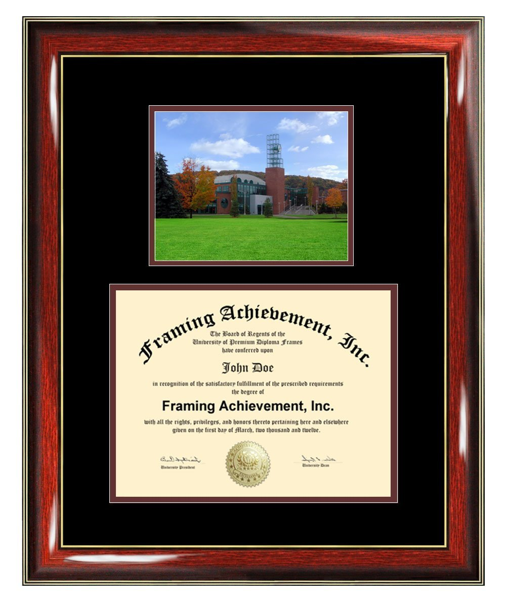 Binghamton University State New York Diploma Frame Binghamton SUNY College Graduation Degree Frame Campus College Photo Certificate Plaque Framing Gift Collegiate