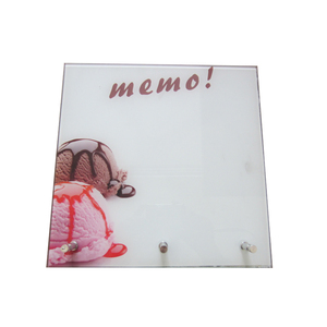 Office Home Decorative Dry Erase Clear Glass Magnetic Message Board