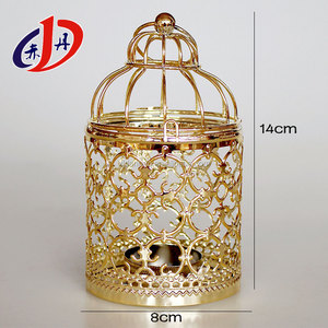 Famous Worldwide Hollow out Birdcage wrought iron antique metal candle lantern