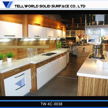 Prefab artificial marble countertop italian kitchen cabinet manufacturers. Prefab Artificial Marble Countertop Italian Kitchen Cabinet