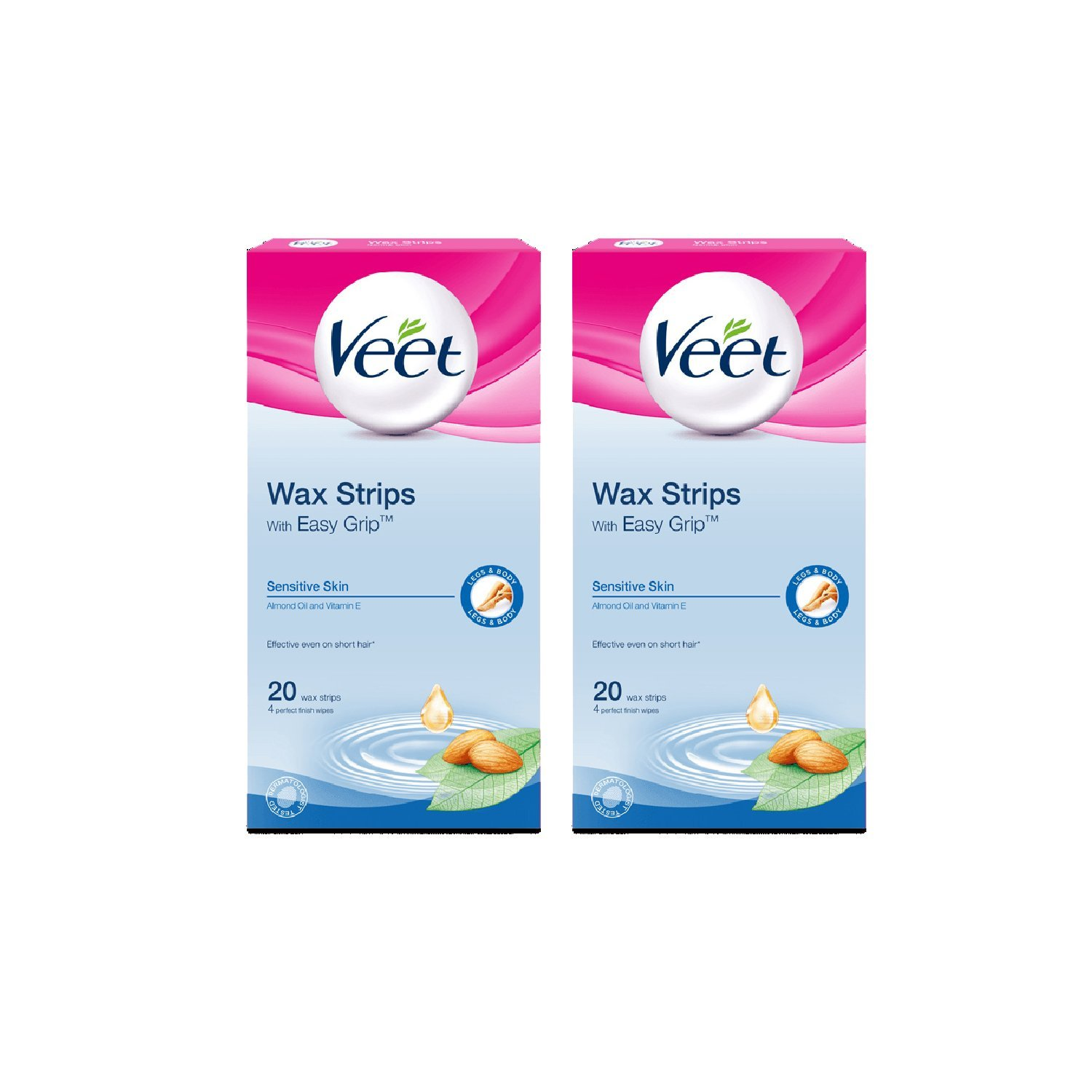 Buy Veet Ready To Use Wax Strips Sensitive Skin Formula 20 Count